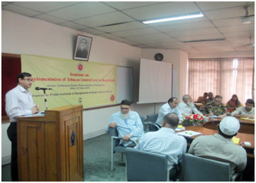 Gave Speech By Chief Guest of the seminar Mr. Martuza Ahmed, Honorable Secretary, Ministry of Information (MOI)