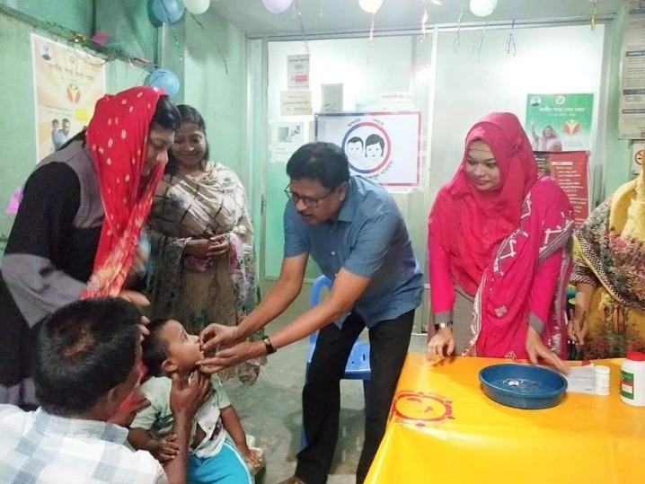 Vitamin A plus Campaign in Uttara, Dhaka